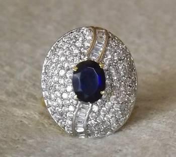 Sparkling AZ Diamond Ring