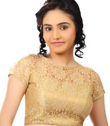Buy gold net readymade-blouse bridal-blouse online
