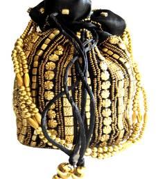 Buy Bead Pouch Potli Bag  Black potli-bag online