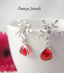 Buy Snowflakes with red drops danglers-drop online