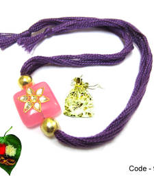 Buy Pink Jewel Rakhi jeweled-rakhi online