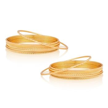 Regular Wear Gold Plated Designer Bangles BG-1887