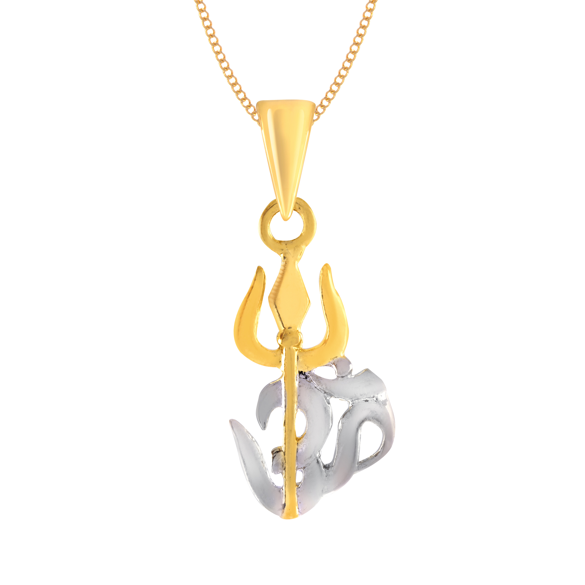 chain trishul buy original cz om with pendant online women men jewelscartin gold god plated designs fashion jewellery designers