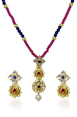 Kshitij Majestic Multicolour Beads Necklace Set