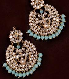 Buy Sky Beads and Kundan Embellished Dangler Earrings danglers-drop online