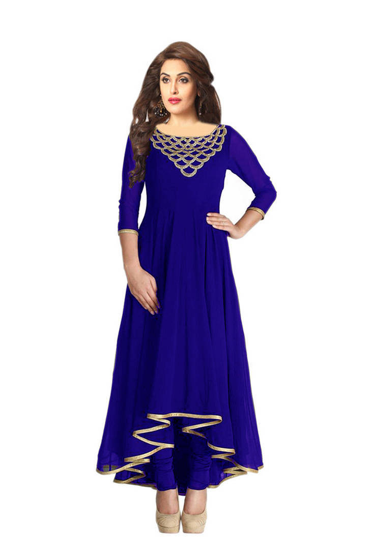 Buy Blue Embroidered Kurtas And Kurtis Online