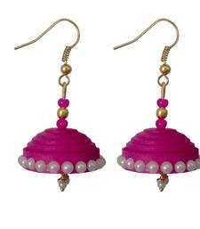 Buy Pink danglers-drops jewellery-below-200 online